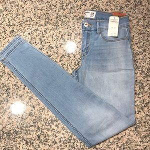 Abercrombie kids super skinny lightly washed jeans
